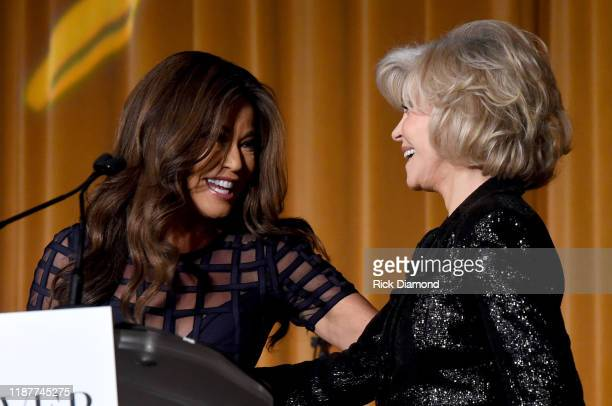 Robin Meade and Jane Fonda speak at GCAPP Empower Party to Benefit Georgia's Youth at The Fox Theatre on November 14 2019 in Atlanta Georgia