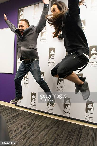 Robin Nixon and Steve Aoki at The GRAMMY Museum on September 28 2016 in Los Angeles California