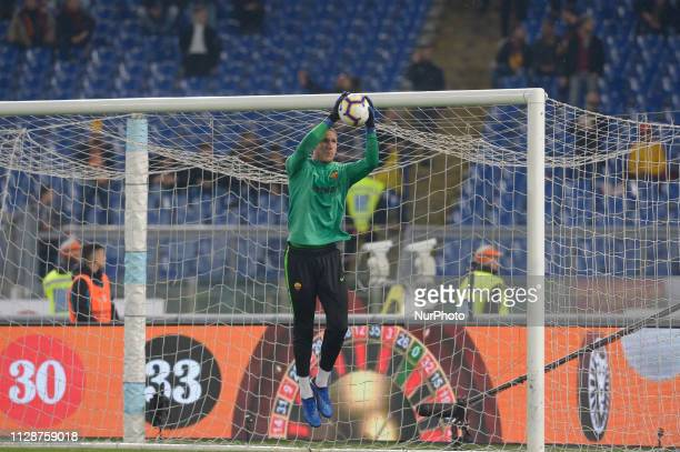 Robin Olsen during the Italian Serie A football match between SS Lazio and AS Roma at the Olympic Stadium in Rome on march 02 2019