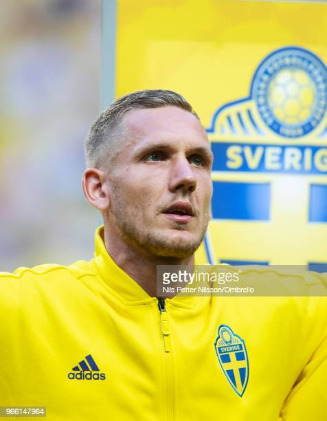 Robin Olsen goalkeeper of Sweden ahead of the International Friendly match between Sweden and Denmark at Friends Arena on June 2 2018 in Solna Sweden