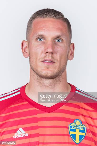 Robin Olsen of Sweden poses during the official FIFA World Cup 2018 portrait session on June 13 2018 in Gelendzhik Russia