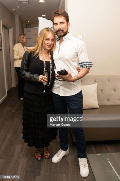 Robin Pack and Dr Jason Shamil attend Angelo David Pisacreta Jacob Guttman Celebrate Spring And Preview The Flex Brush on May 2 2018 in New York City