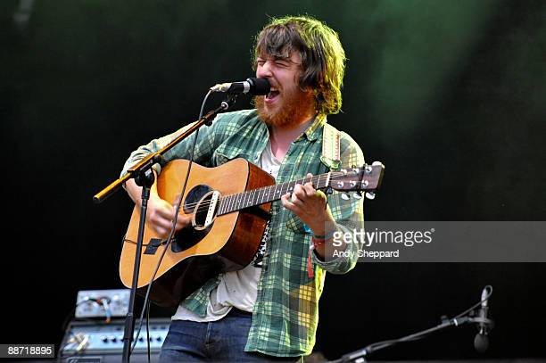 Robin Pecknold of Fleet Foxes performs on stage on day 2 of Hard Rock Calling 2009 in Hyde Park on June 27 2009 in London England