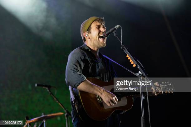 Robin Pecknold of Fleet Foxes performs on the Mountain stage during day 2 at Greenman Festival on August 18, 2018 in Brecon, Wales.