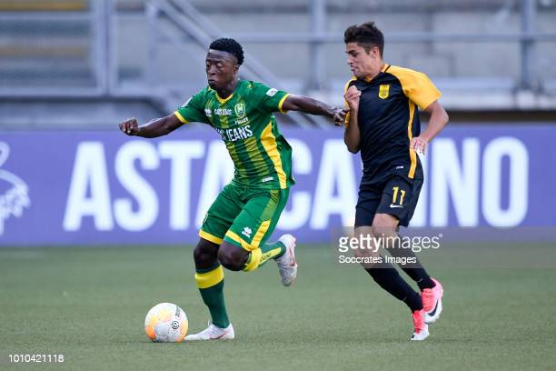 Robin Polley of ADO Den Haag Mateo Garcia of Aris Thessaloniki during the Club Friendly match between ADO Den Haag v Aris Saloniki at the Cars Jeans...