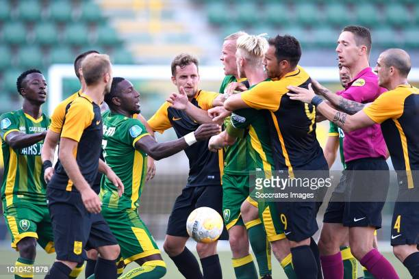 Robin Polley of ADO Den Haag Sheraldo Becker of ADO Den Haag Nicolas Colazo of Aris Thessaloniki Tom Beugelsdijk of ADO Den Haag Lex Immers of ADO...
