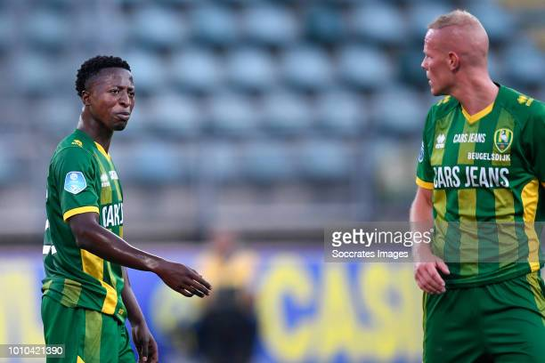 Robin Polley of ADO Den Haag Tom Beugelsdijk of ADO Den Haag during the Club Friendly match between ADO Den Haag v Aris Saloniki at the Cars Jeans...