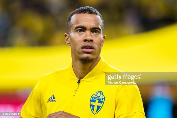 Robin Quaison of Sweden during a UEFA Euro 2020 Qualification match between Sweden and Norway at Friends Arena on September 8, 2019 in Stockholm,...