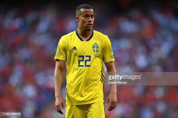 Robin Quaison of Sweden looks on during the UEFA Euro 2020 qualifier match between Spain and Sweden at Bernabeu on June 10, 2019 in Madrid, Spain.
