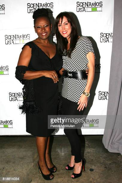 Robin Quivers and Melissa Zapin attend SCENARIOS USA 2010 Awards and Gala at Tribeca Rooftop on April 27 2010 in New York