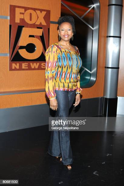 Robin Quivers DJ and cohost of 'The Howard Stern Show' on Sirius Radio visits Fox 5's Good Day New York television show at Fox 5 TV studios on April...