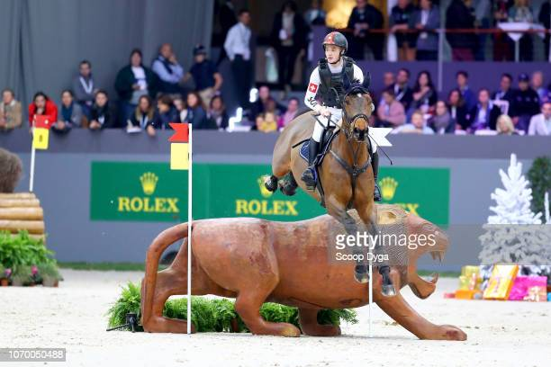 Robin riding Giaccomo Ysk during the Cross Indoor on December 8, 2018 in Geneva, Switzerland.