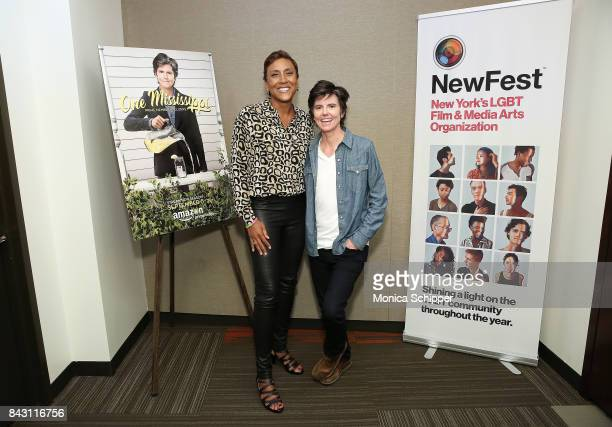 Robin Roberts and actress and writer Tig Notaro attend a screening for NewFest New York's LGBT Film Media Arts Organization for 'One Mississippi'...