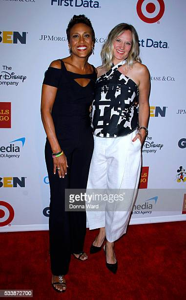 Robin Roberts and Amber Laign attend the 2016 GLSEN Respect Awards at Cipriani 42nd Street on May 23 2016 in New York City