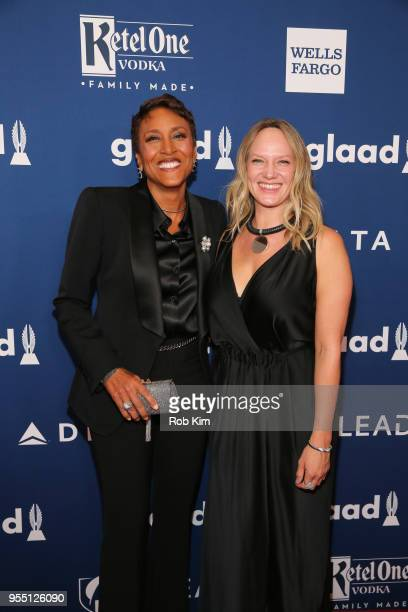 Robin Roberts and Amber Laign attend the 29th Annual GLAAD Media Awards at Mercury Ballroom at the New York Hilton on May 5 2018 in New York City