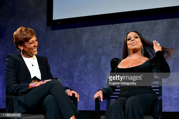 Robin Roberts and Niecy Nash speak onstage during the Lifetime special screening Robin Roberts Presents Stolen By My Mother The Kamiyah Mobley...