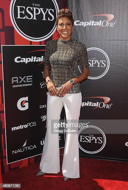 Robin Roberts arrives at The 2015 ESPYS at Microsoft Theater on July 15 2015 in Los Angeles California