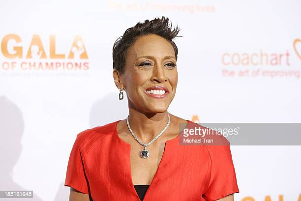 Robin Roberts arrives at the CoachArt Gala of Champions held at The Beverly Hilton Hotel on October 17 2013 in Beverly Hills California