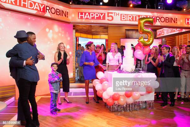 AMERICA Robin Roberts celebrates her 5th birthday which commemorates the day she received a lifesaving bonemarrow transplant to treat MDS on 'Good...