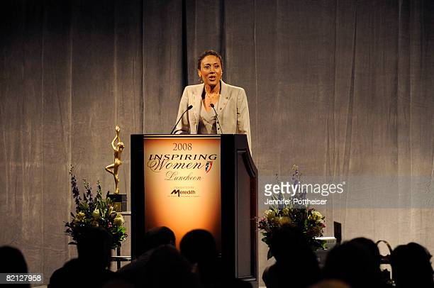 Robin Roberts CoAnchor of ABC News' Good Morning America is honored at the Inspiring Women's Luncheon on July 30 2008 in San Francisco California...
