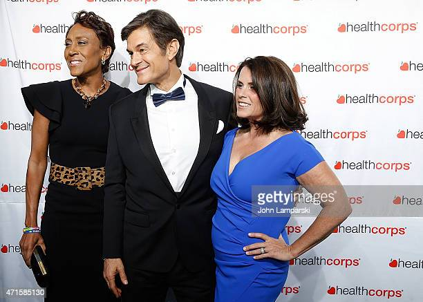 Robin Roberts Dr Mehmet Oz and Lisa Oz attend 9th Annual HealthCorps' Gala at Cipriani Wall Street on April 29 2015 in New York City