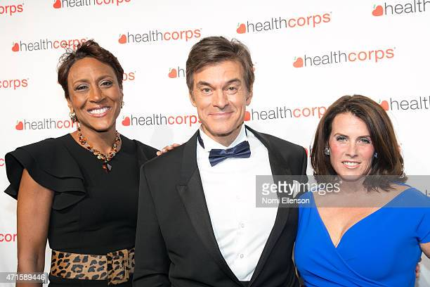 Robin Roberts Dr Mehmet Oz and Lisa Oz attend the 9th Annual HealthCorps' Gala at Cipriani Wall Street on April 29 2015 in New York City
