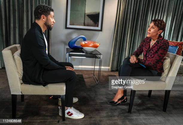 AMERICA Robin Roberts interview with actor Jussie Smollett airs Thursday February 14 2019 on ABC's 'Good Morning America' JUSSIE