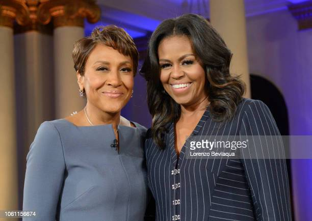 AMERICA Robin Roberts interviews former first lady Michelle Obama live in Chicago on Tuesday November 13 2018 Good Morning America airs MondayFriday...