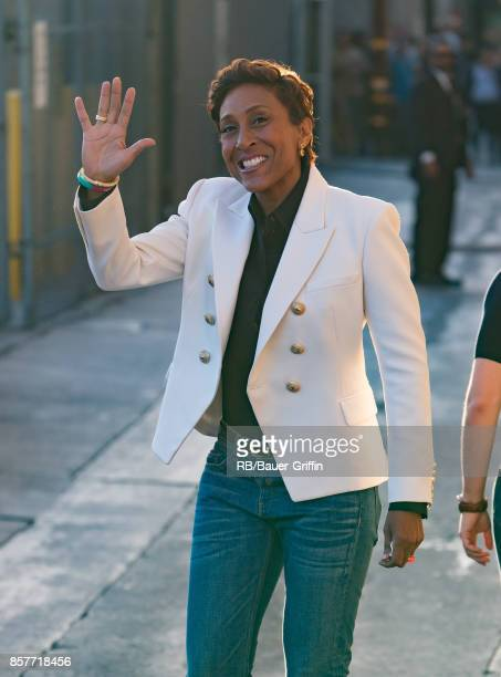 Robin Roberts is seen at Jimmy Kimmel Live' on October 04 2017 in Los Angeles California