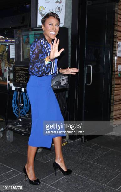 Robin Roberts is seen on August 09 2018 in New York City