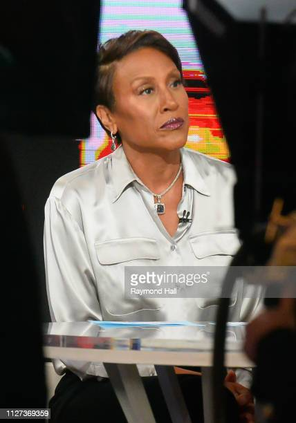 Robin Roberts is seen on the set of 'Good Morning America' on February 25 2019 in New York City