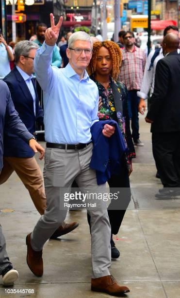 Robin Roberts is seen outside Good Morning America on September 18 2018 in New York City