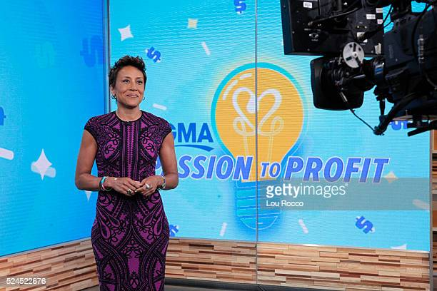 """Robin Roberts on """"Good Morning America,"""" 4/25/16, airing on the Walt Disney Television via Getty Images Television Network. ROBIN ROBERTS"""