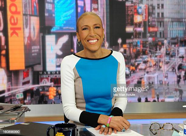 AMERICA Robin Roberts pictured during a visit to GMA on 1/24/2013 will return to the anchor desk at GOOD MORNING AMERICA on WEDNESDAY FEB 20 airing...