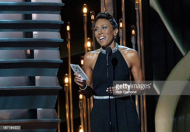 Robin Roberts speaks onstage during the 47th annual CMA awards at the Bridgestone Arena on November 6 2013 in Nashville United States