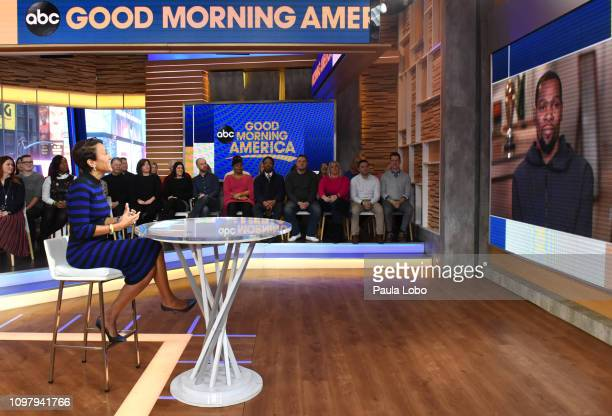 Robin Roberts talks with Kevin Durant on Monday Feb 11 2019 on ABC's 'Good Morning America' 'Good Morning America' airs MondayFriday on ABC GM19 ROBIN