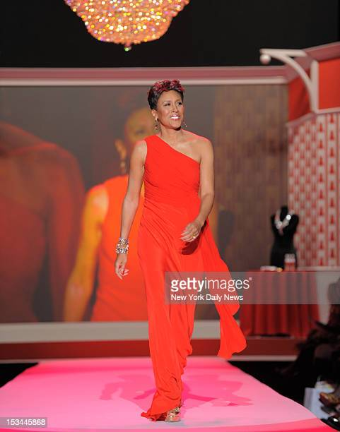 Robin Roberts walks down the aisle at the Heart Truth's Red Dress Collection show at the Tent at Bryant Park