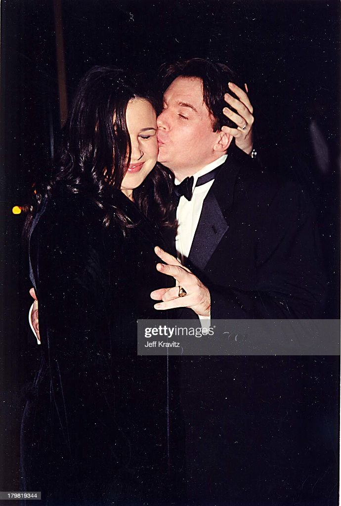 Robin Ruzan and Mike Myers during American Film Institute Honors Harrison Ford with 2000 Lifetime Achievement Award at Beverly Hilton Hotel in Beverly Hills, California, United States.