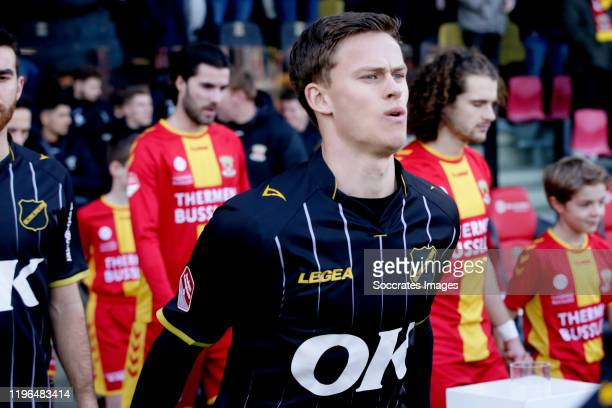 Robin Schouten of NAC Breda during the Dutch Keuken Kampioen Divisie match between Go Ahead Eagles v NAC Breda at the De Adelaarshorst on January 26,...