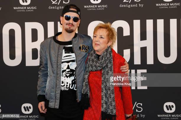 Robin Schulz and his mother Ille Schulz attend the 'Robin Schulz The Movie' world premiere at Cinemaxx on February 24 2017 in Hamburg Germany