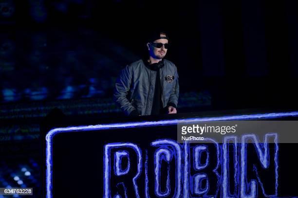 Robin Schulz attends the fourth night of the 67th Sanremo Festival 2017 at Teatro Ariston on February 10 2017 in Sanremo Italy