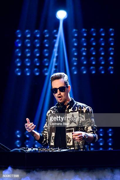 Robin Schulz performs on stage of the 'The Voice Of Germany Semi Final' on December 10 2015 in Berlin Germany