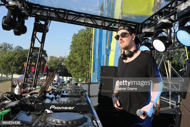 Robin Schulz performs on stage on Day 2 of Spring Awakening Music Festival at Addams/Medill Park on June 10 2017 in Chicago Illinois