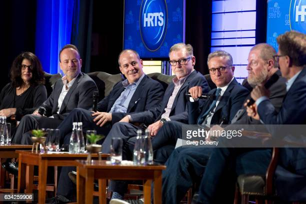 Robin Schwartz John Landgraf David Nevins Warren Littlefield Rick Rosen Preston Beckman Karey Burke and Kevin Reilly attend The Hollywood Radio And...