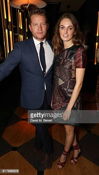 Robin ScottLawson and Lady Violet Manners attend a private dinner hosted by Hikari Yokoyama to celebrate the Harper's Bazaar charity auction with...