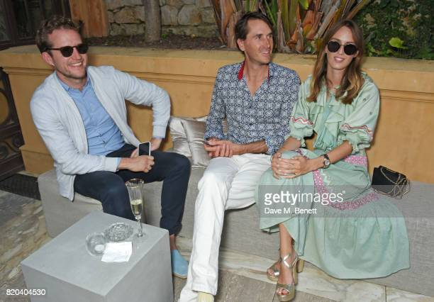 Robin ScottLawson Otis Ferry and Lady Alice Manners attend the Lelloue launch party at Villa St George on July 21 2017 in Cannes France