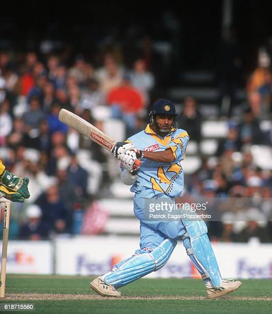 Robin Singh batting during his 75 for India in the World Cup Super Six match between Australia and India at The Oval London 4th June 1999