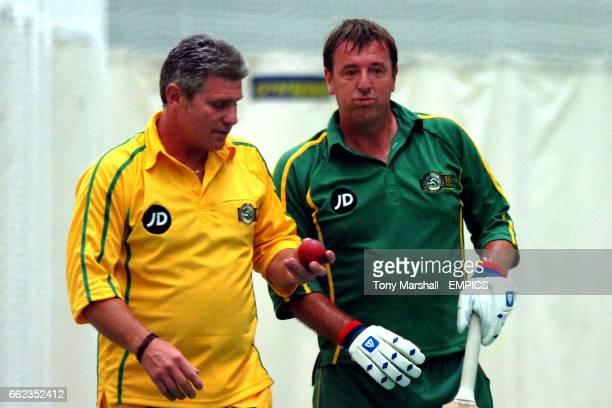 Robin Smith and Matt Le Tissier during the PFA Centenary cricket match