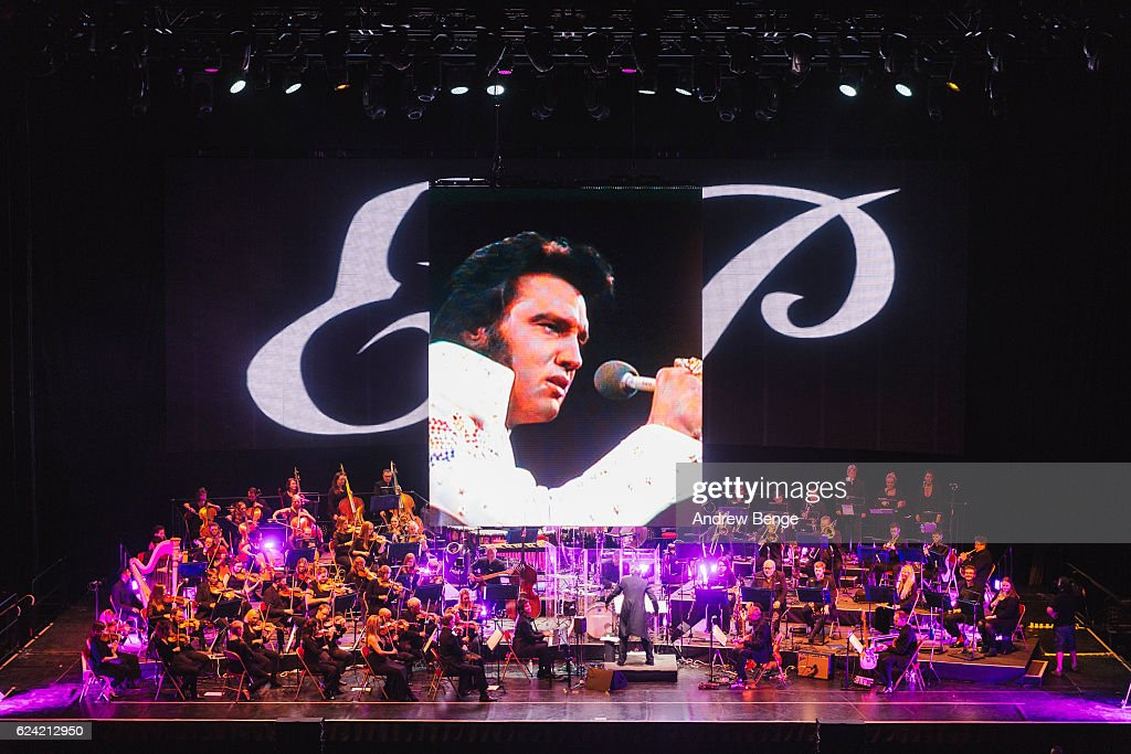 Elvis In Concert With The Royal Philharmonic Orchestra At The First Direct Arena, Leeds : News Photo