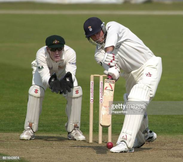 Robin Smtih of Hampshire batting alongside wicketkeeper Wade Seccombe of Australia during the FirstClass Tour match between Hampshire and Australia...